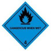 Hazard safety sign - Dangerous When Wet 011